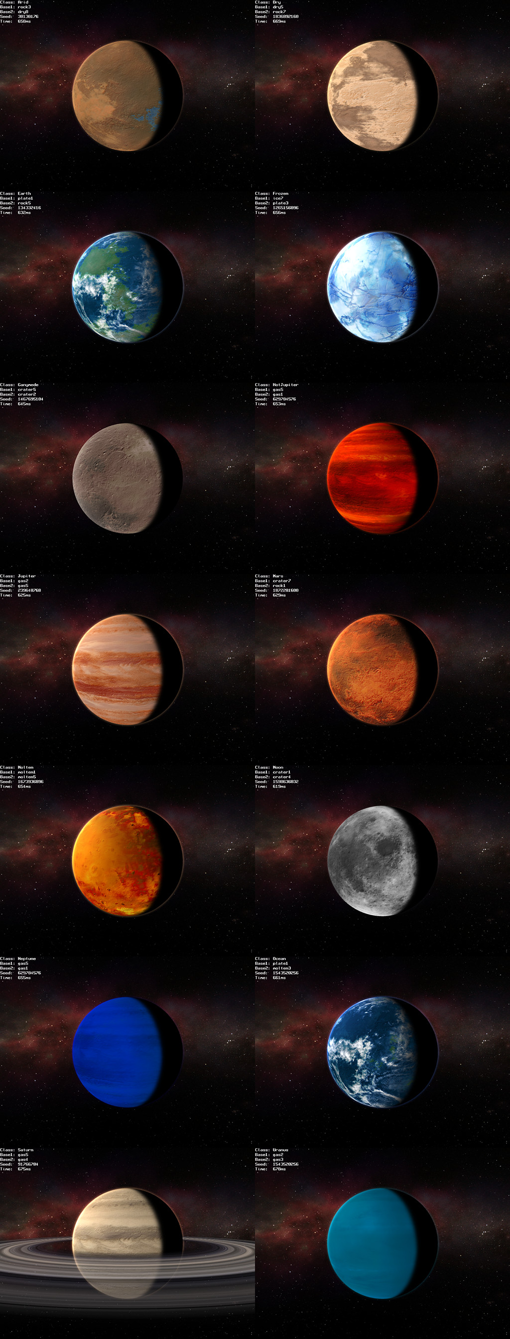 all types of planets - photo #2